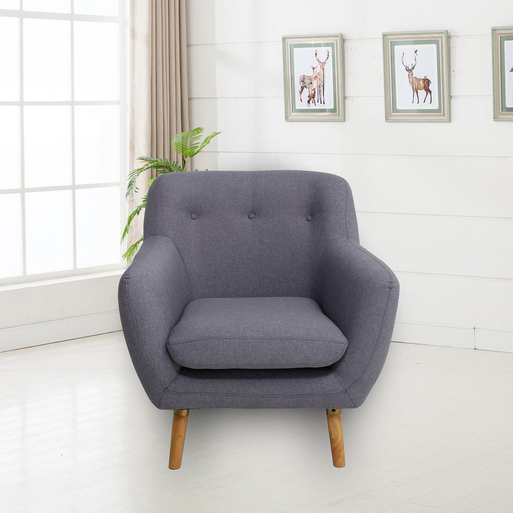 ebello home ebello home cary grey accent chair