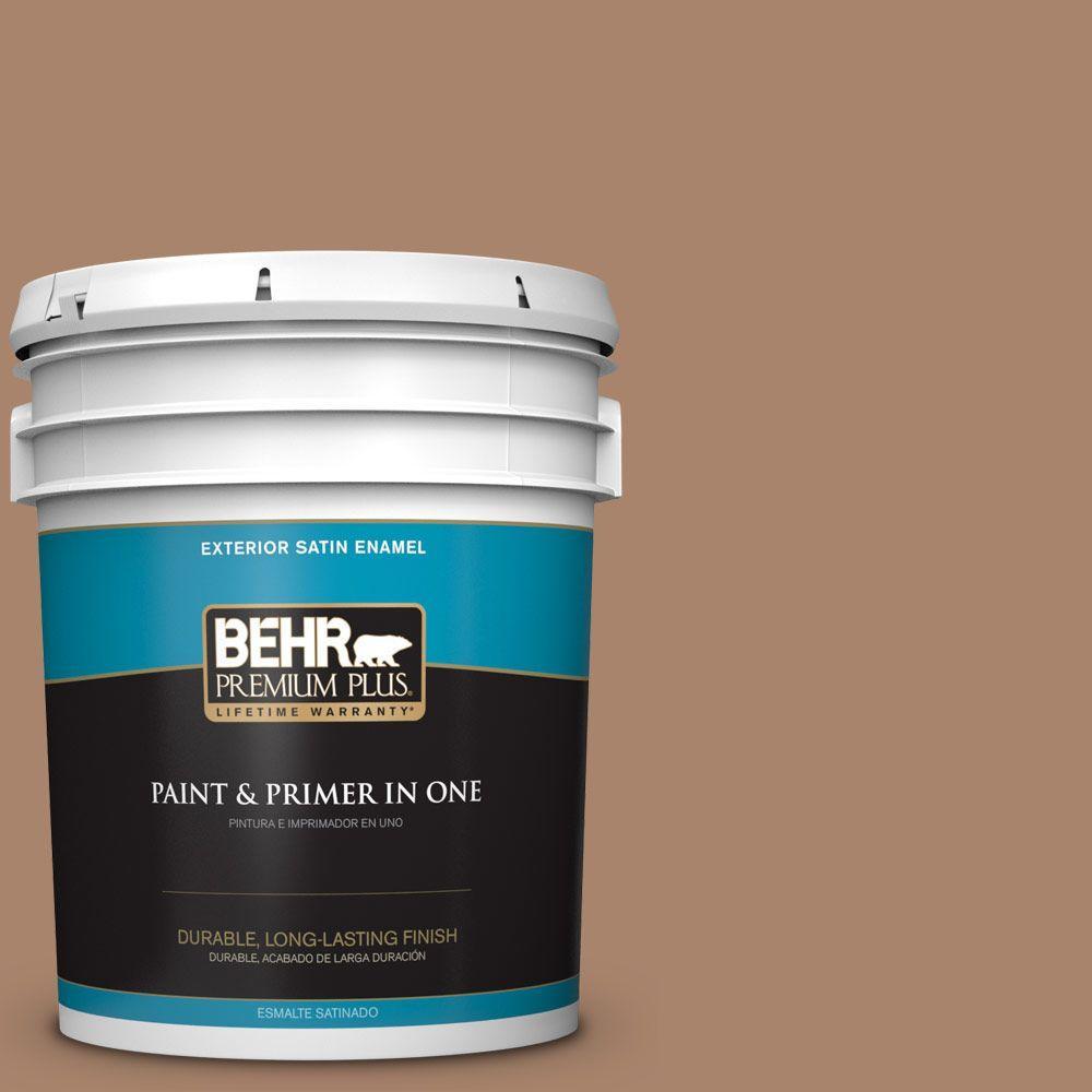 BEHR Premium Plus 5-gal. #S220-5 Nutshell Satin Enamel Exterior Paint