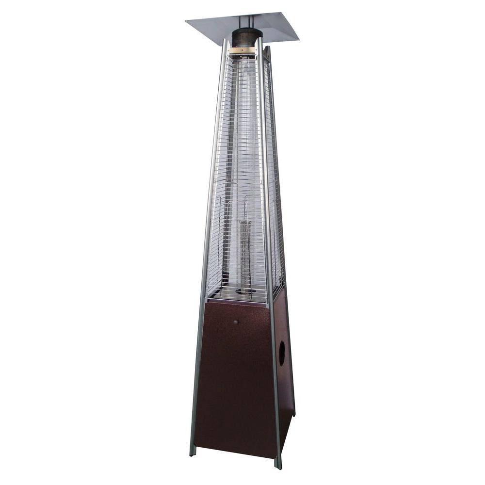 40,000 BTU Quartz Glass Tube Hammered Bronze Gas Patio Heater