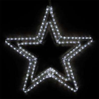 24 in. 148-Light LED Cool White 5 Point Classic Hanging Star