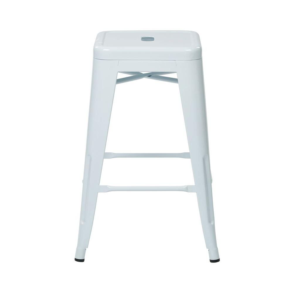 OSP Home Furnishings 24 in. White Bar Stool (Set of 4) OSP Home Furnishings 24 in. White Bar Stool (Set of 4)