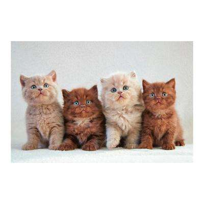 "47 in. x 32 in. ""Fur Babies"" Tempered Glass Wall Art"