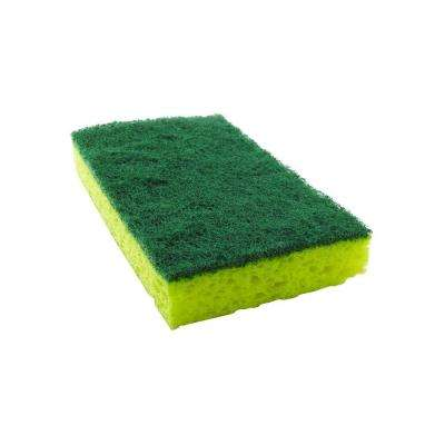 2-3/4 in. x 4-1/2 in. Heavy-Duty Scrub Sponge (6-Pack)
