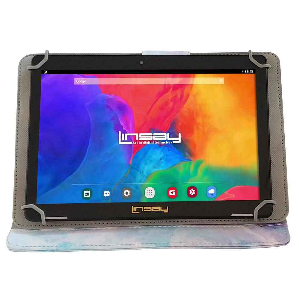 LINSAY 10.1 in. 1280x800 IPS 2GB RAM 16GB Android 9.0 Pie Tablet with Pink Shape Marble Case was $324.99 now $79.99 (75.0% off)