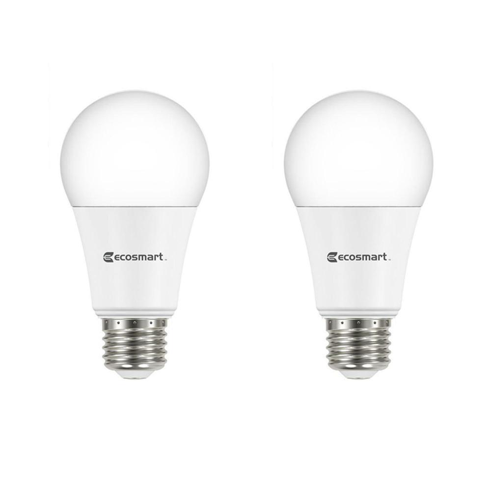 75-Watt Equivalent A19 Dimmable LED Light Bulb, Daylight (2-Pack)