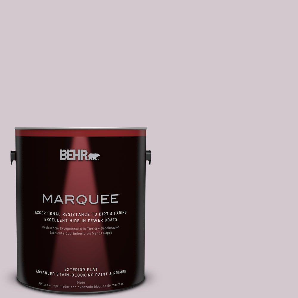 1-gal. #N110-1 Dusty Lilac Flat Exterior Paint