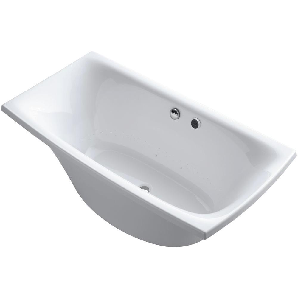 KOHLER Escale 6 ft. Air Bath Tub in White-K-14037-G-0 - The Home Depot