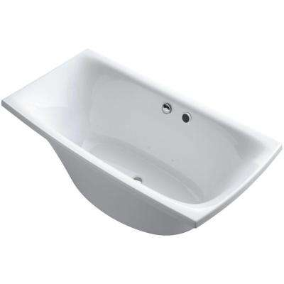Escale 6 ft. Air Bath Tub in White