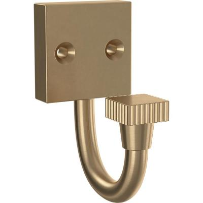 Simple Square 2.88 in. Champagne Bronze Single Prong Hook