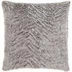 Sowerby Grey Solid Polyester 20 in. x 20 in. Throw Pillow