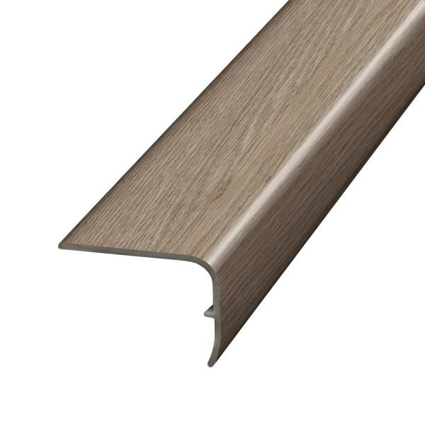 Cottonwood Valley Beige and Grey 1.32 in. Thick x 1.88 in. Wide x 78.7 in. Length Vinyl Stair Nose Molding