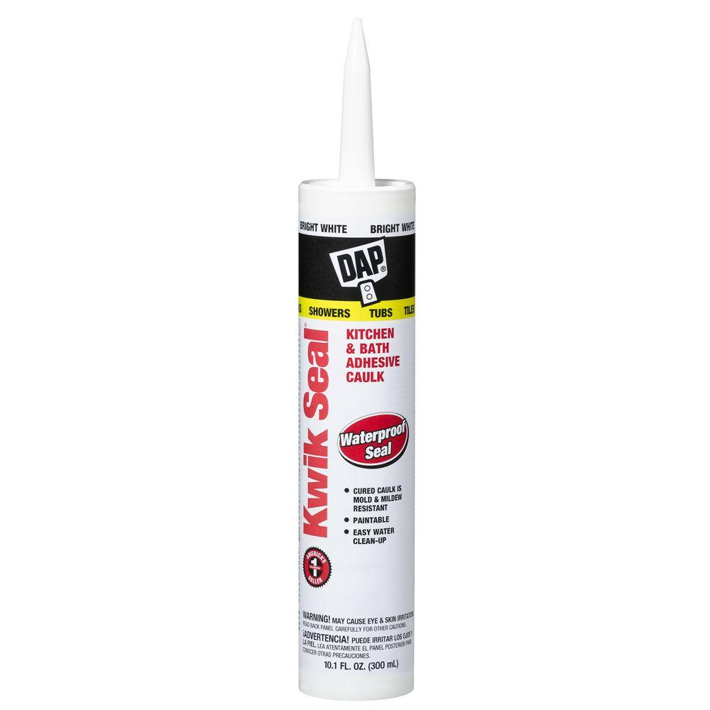 DAP Kwik Seal 10.1 oz. White Tub and Tile Adhesive Caulk-18032 - The ...