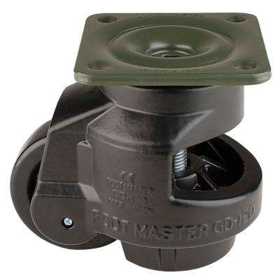 3 in. Nylon Wheel Top Plate Leveling Caster with Load Rating 2200 lbs.