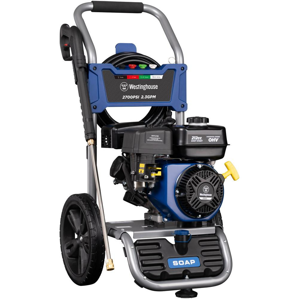 Westinghouse WPX 2700 PSI 2.3 GPM Gas Powered Axial Cam Pump Pressure Washer with Quick Connect Tips