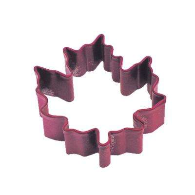 12-Piece Mini Maple Leaf Red Polyresin Cookie Cutter & Recipe
