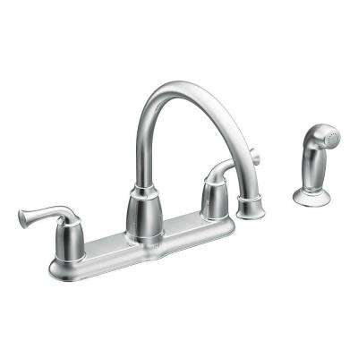 Banbury 2 Handle Mid Arc Standard Kitchen Faucet With Side Sprayer In Chrome