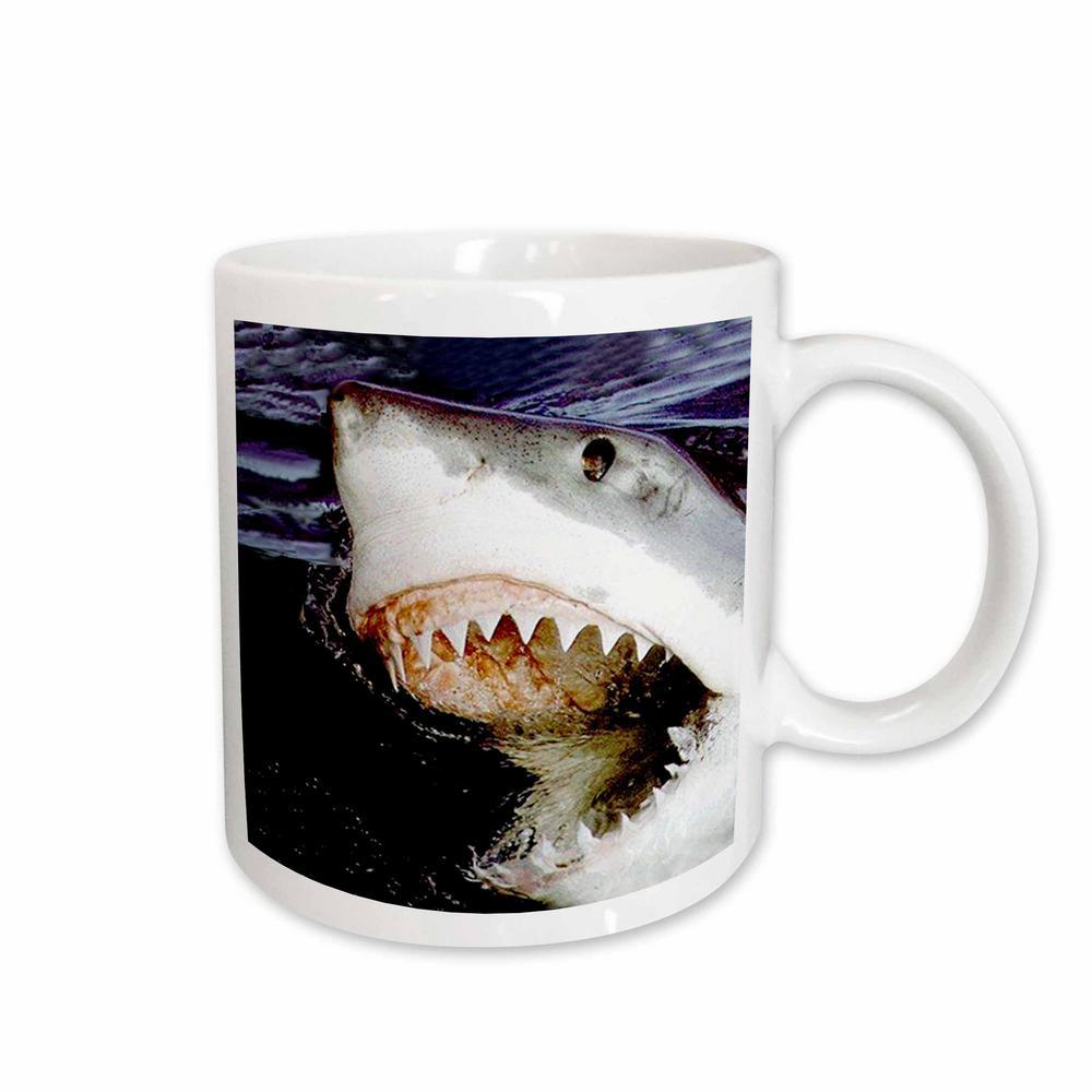 Sharks 11 oz. White Ceramic Great White Mug