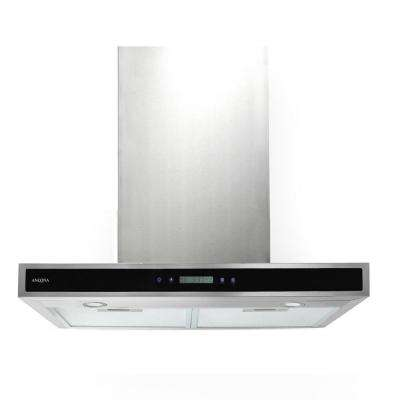 30 in. 400 CFM Convertible Wall-Mounted Range Hood with LED Lights in Stainless Steel