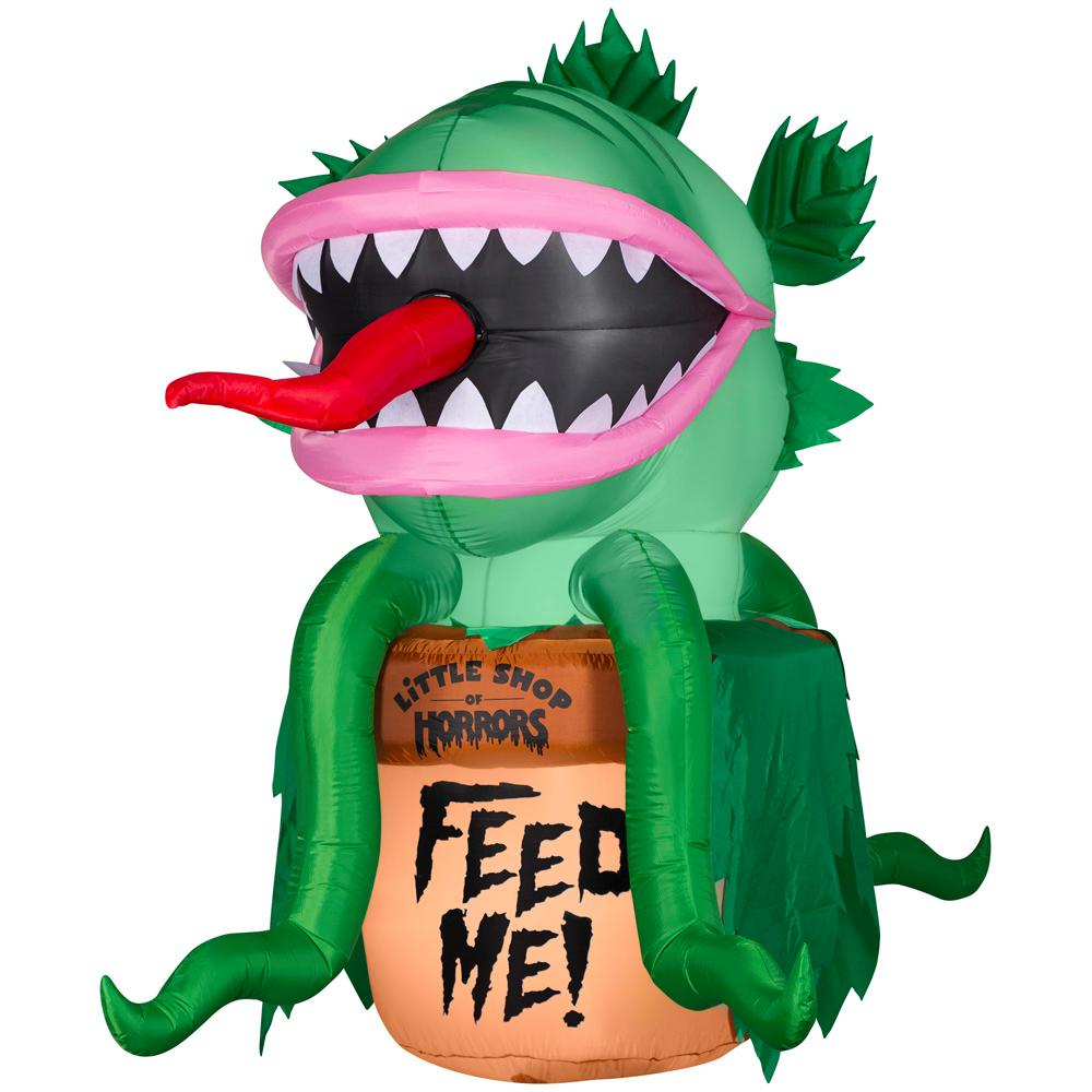 Pre Lit Inflatable Animated Audrey from Little Shop of Horrors Warner 7.27 ft