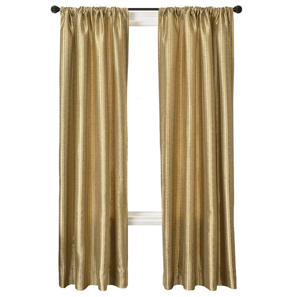 Home Decorators Collection Sheer Sage Cavalli Batik Rod Pocket Curtain - 54 in.W x 84 in. L