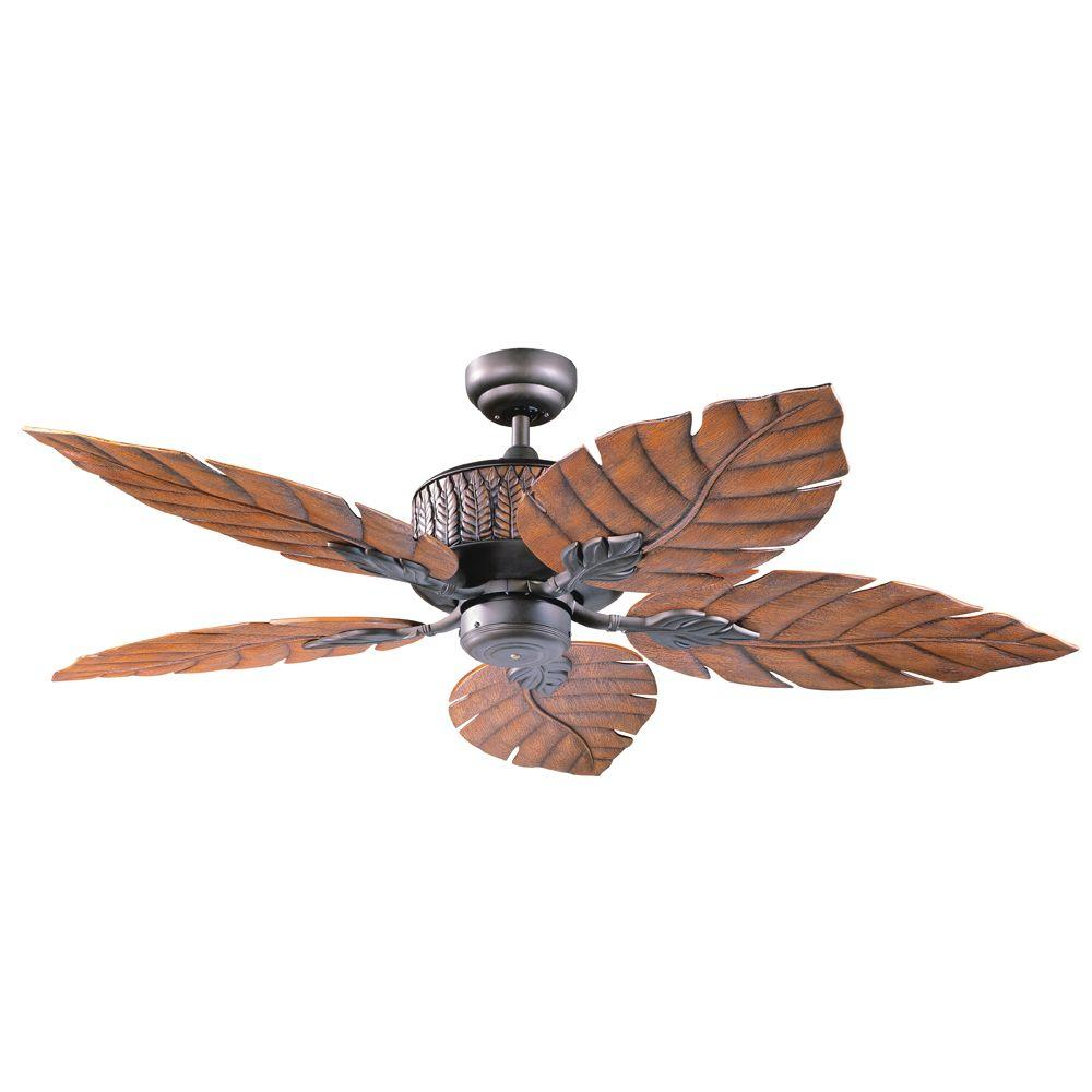 Designers Choice Collection Fern Leaf 52 In Indoor Outdoor Oil Rubbed Bronze Ceiling Fan