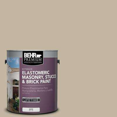 1 Gal. #MS-43 Sandstone Elastomeric Masonry, Stucco and Brick Exterior Paint
