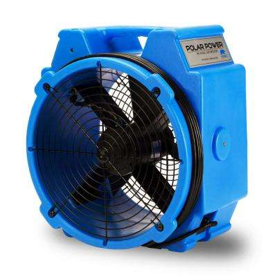 PB-25 1/4 HP 3320 CFM Polar Axial Blower Fan High Velocity Air Mover for Water Damage Restoration, Blue