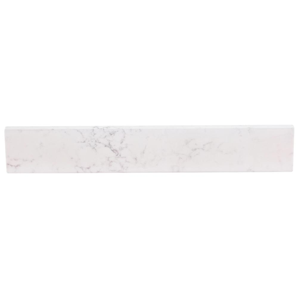 Home Decorators Collection 21.13 in. Stone Effects Sidesplash in Pulsar