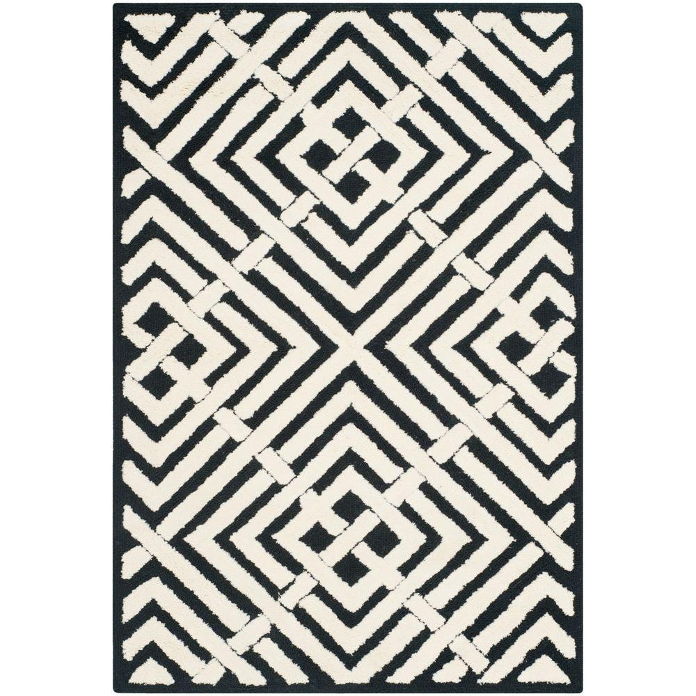 Safavieh Newport Black/White 2 ft. x 3 ft. Area Rug