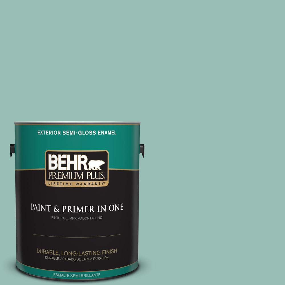 1 gal. #PPU12-07 Spring Stream Semi-Gloss Enamel Exterior Paint