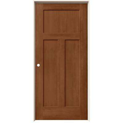 36 in. x 80 in. Craftsman Hazelnut Stain Right-Hand Solid Core Molded Composite MDF Single Prehung Interior Door