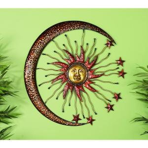 Celestial 36 inch Metal Wall Sculpture by