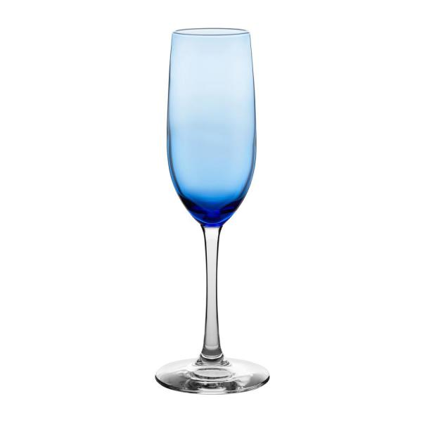 Libbey Vina 8 oz. Blue Glass Champagne Flute Set (6-Pack) 3681C2