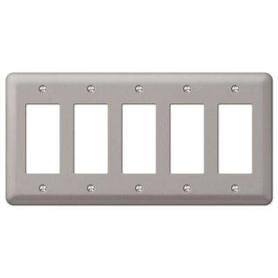 Devon 5 Decorator Wall Plate - Brushed Nickel