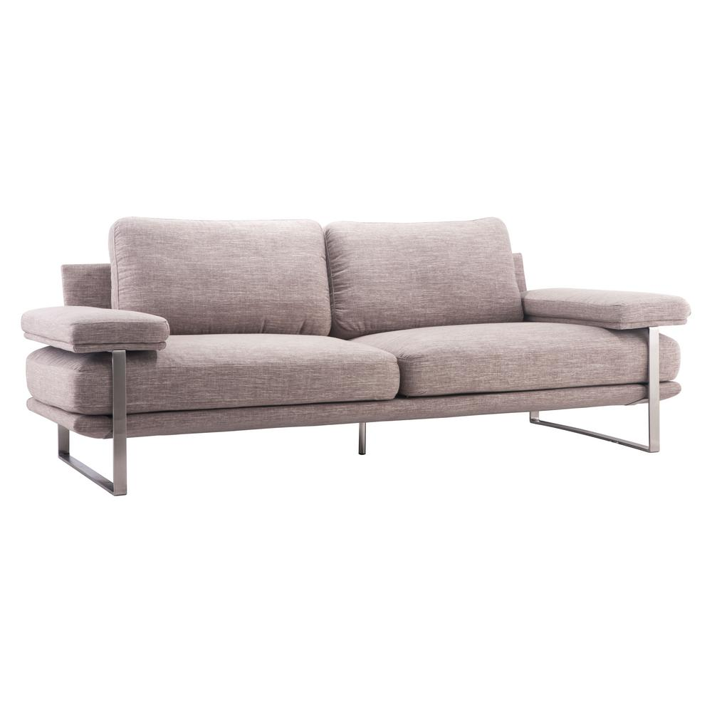Zuo Wheat Fabric Sofa Tan