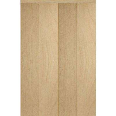 Smooth Flush Solid Core Primed MDF Interior Closet Bi-fold Door With Trim