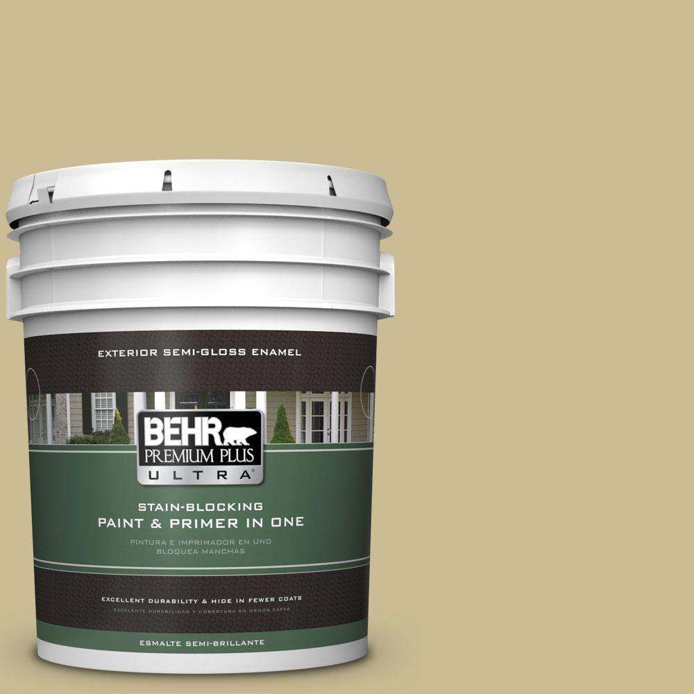 5-gal. #M330-4 Morning Tea Semi-Gloss Enamel Exterior Paint
