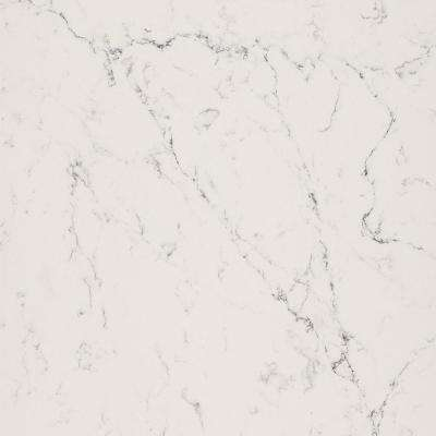 10 in. x 5 in. Quartz Countertop Sample in White Attica