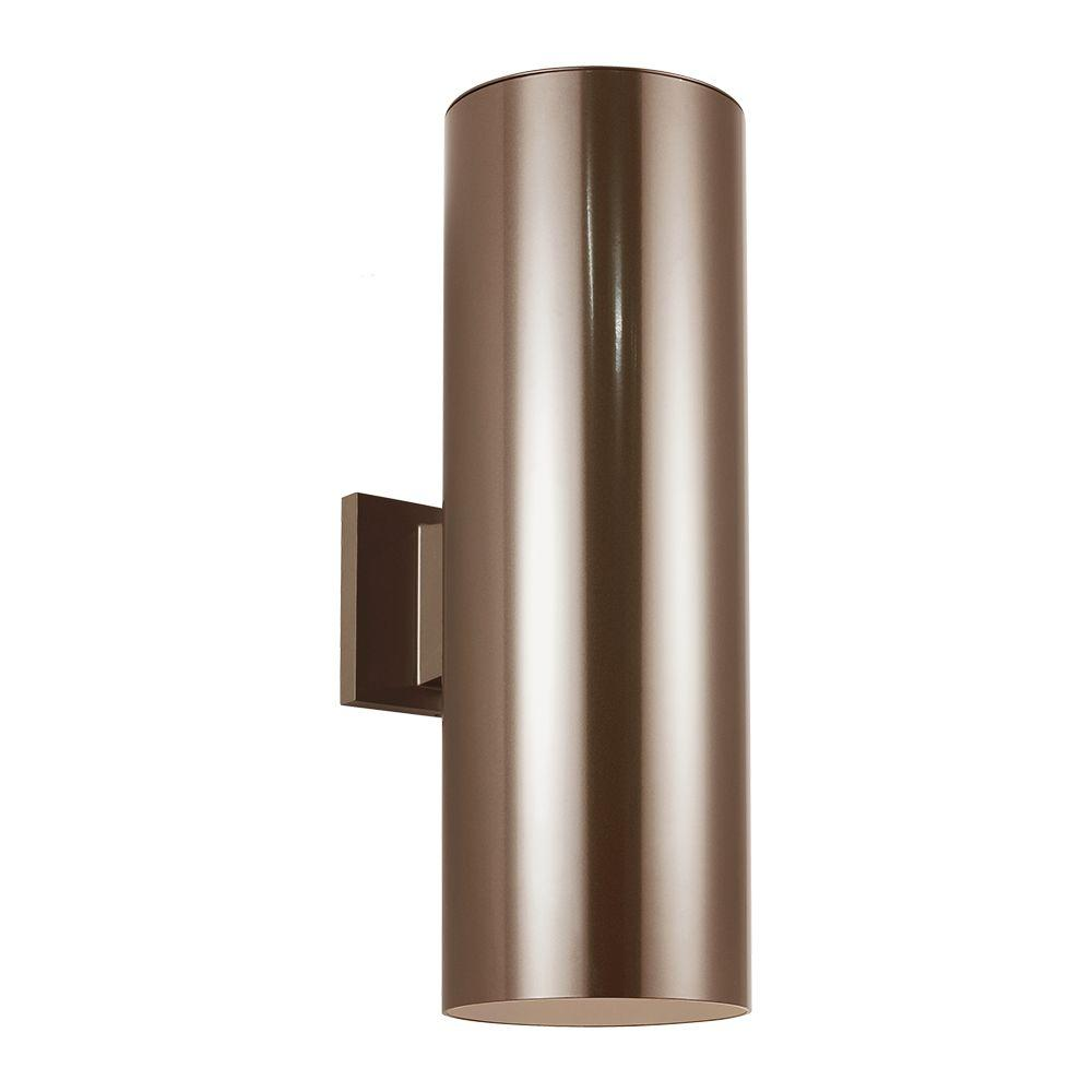 Bronze Cylinder Lights Outdoor Wall Mounted Lighting The Home