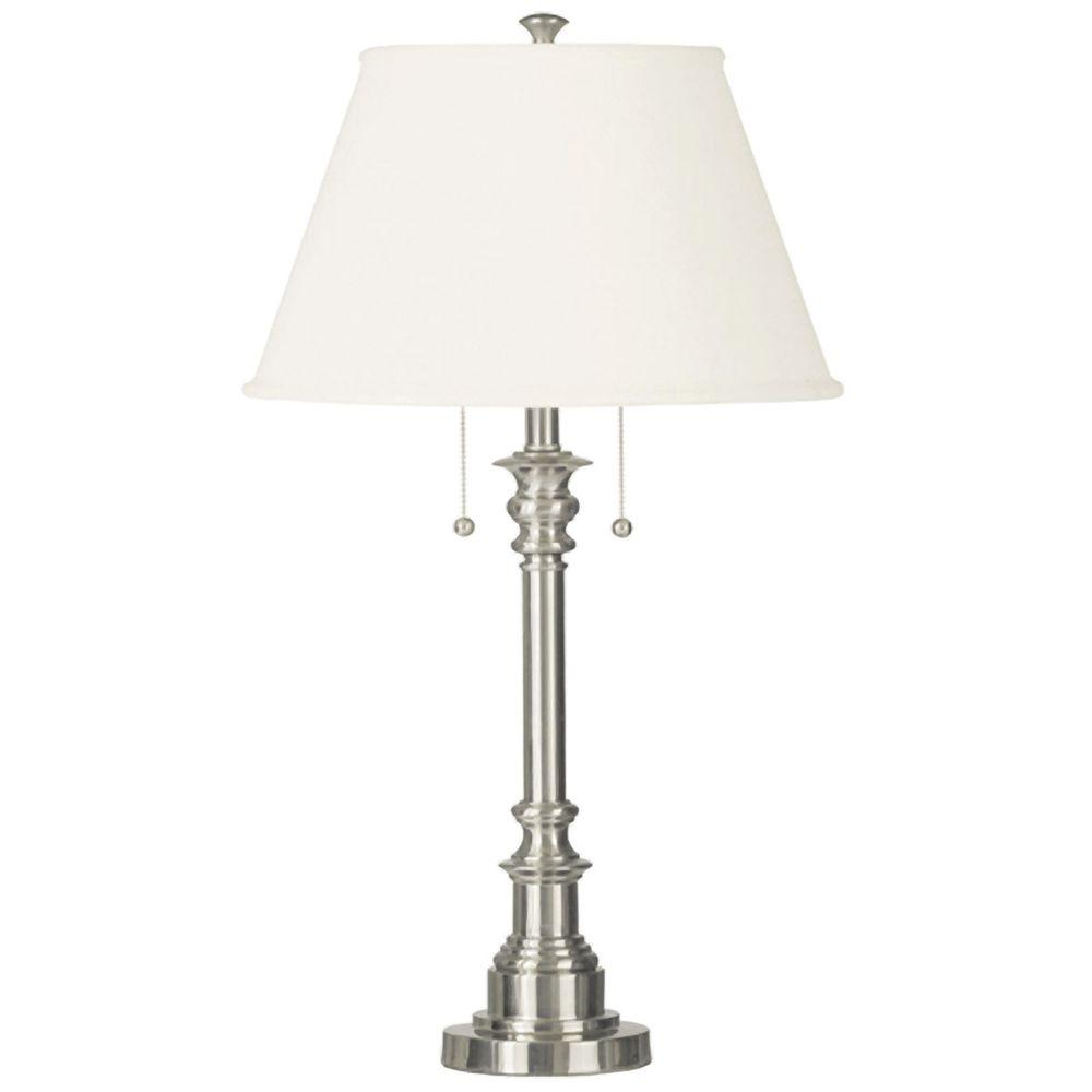 Kenroy home spyglass 31 in brushed steel table lamp 30437bs the brushed steel table lamp aloadofball Gallery