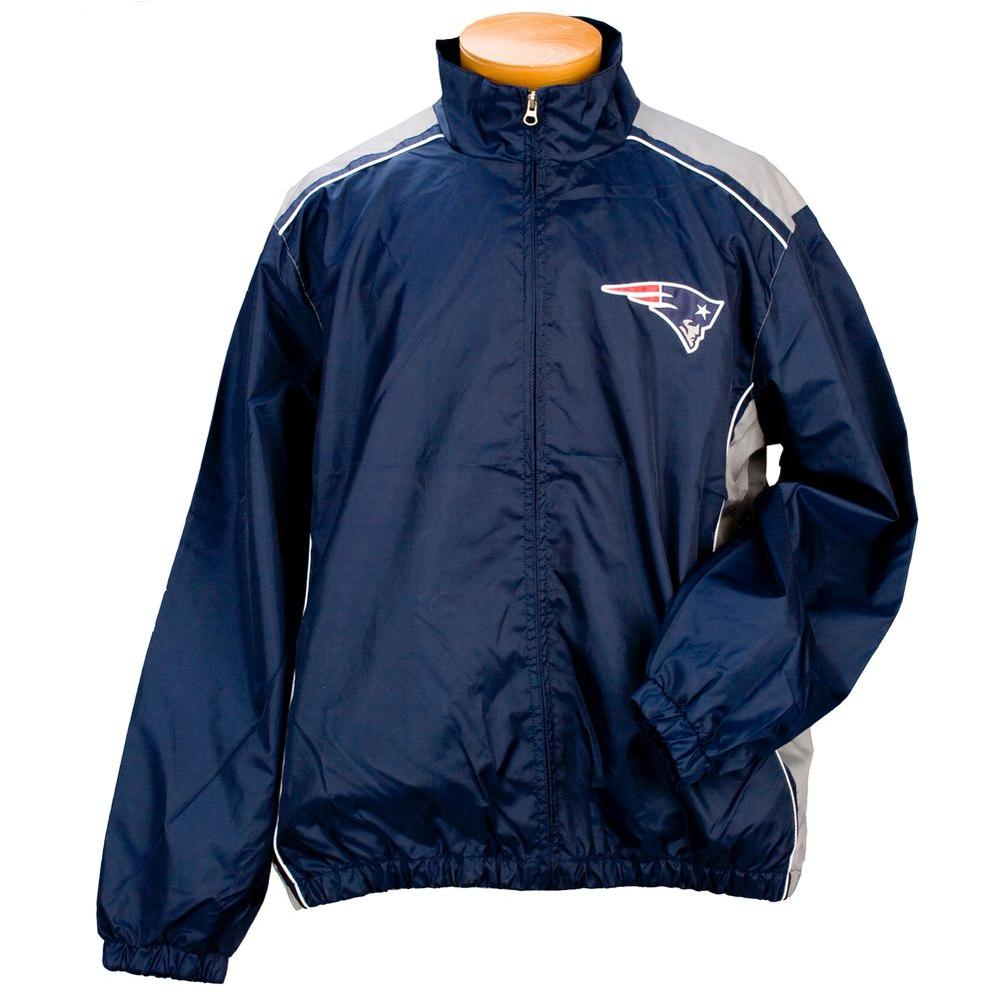 3G NFL Licensed Patriots Lightweight Full Zip Size XL-DISCONTINUED