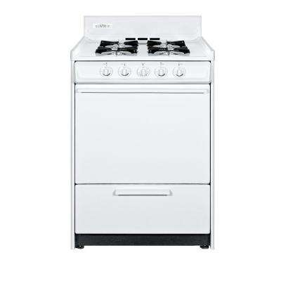 24 in. 2.92 cu. ft. Gas Range in White