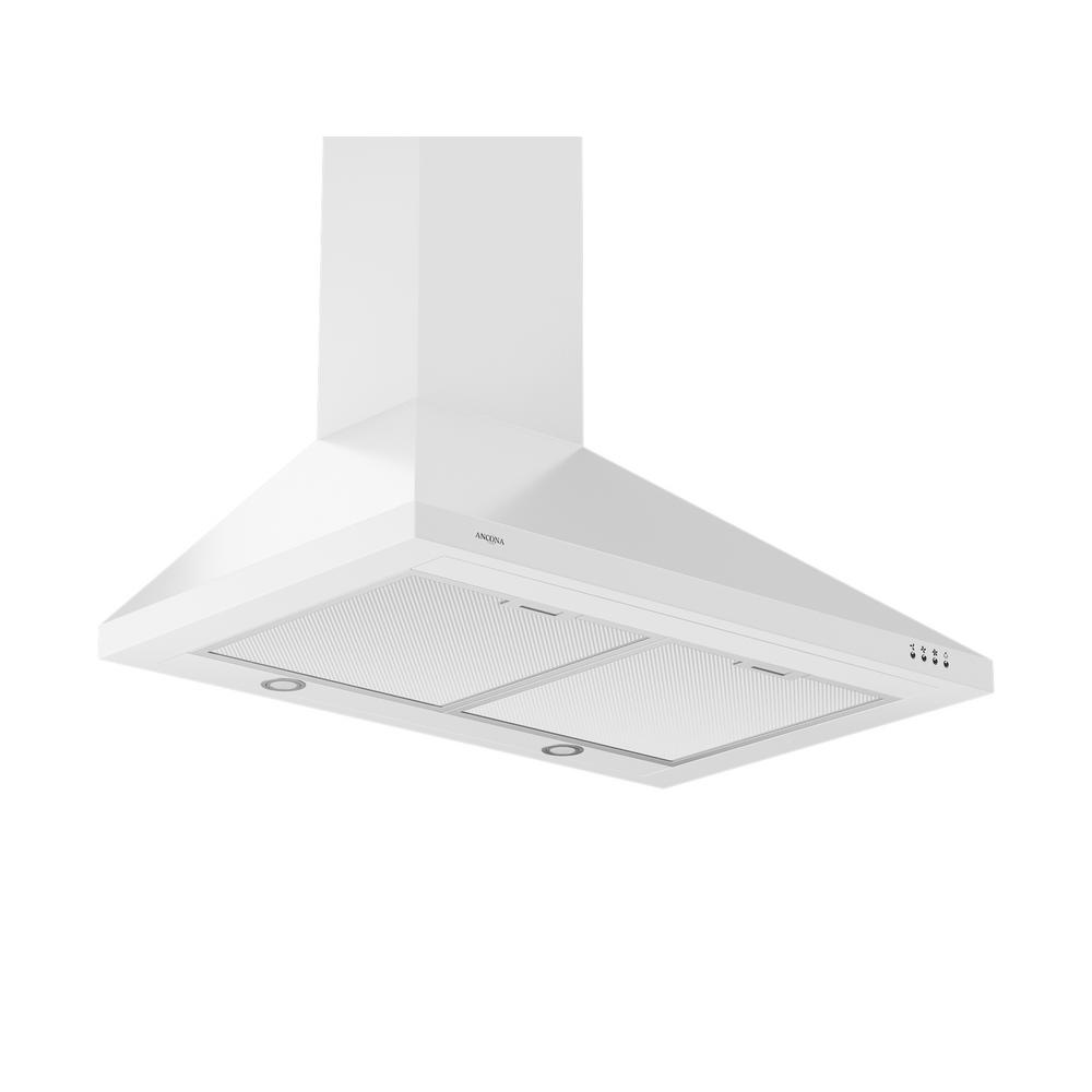 WPPW430 30 in. Wall-Mounted Convertible Range Hood in White