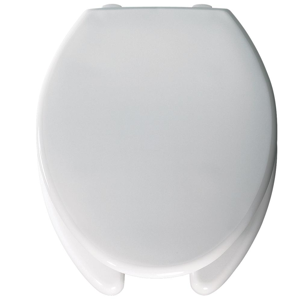 Lift Elongated Open Front Toilet Seat in White