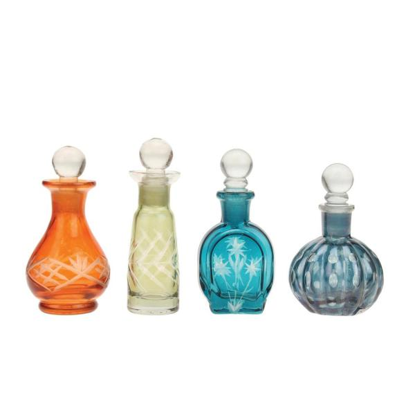 Stonebriar Collection 2 In X 4 In Assorted Color Glass Bottle With