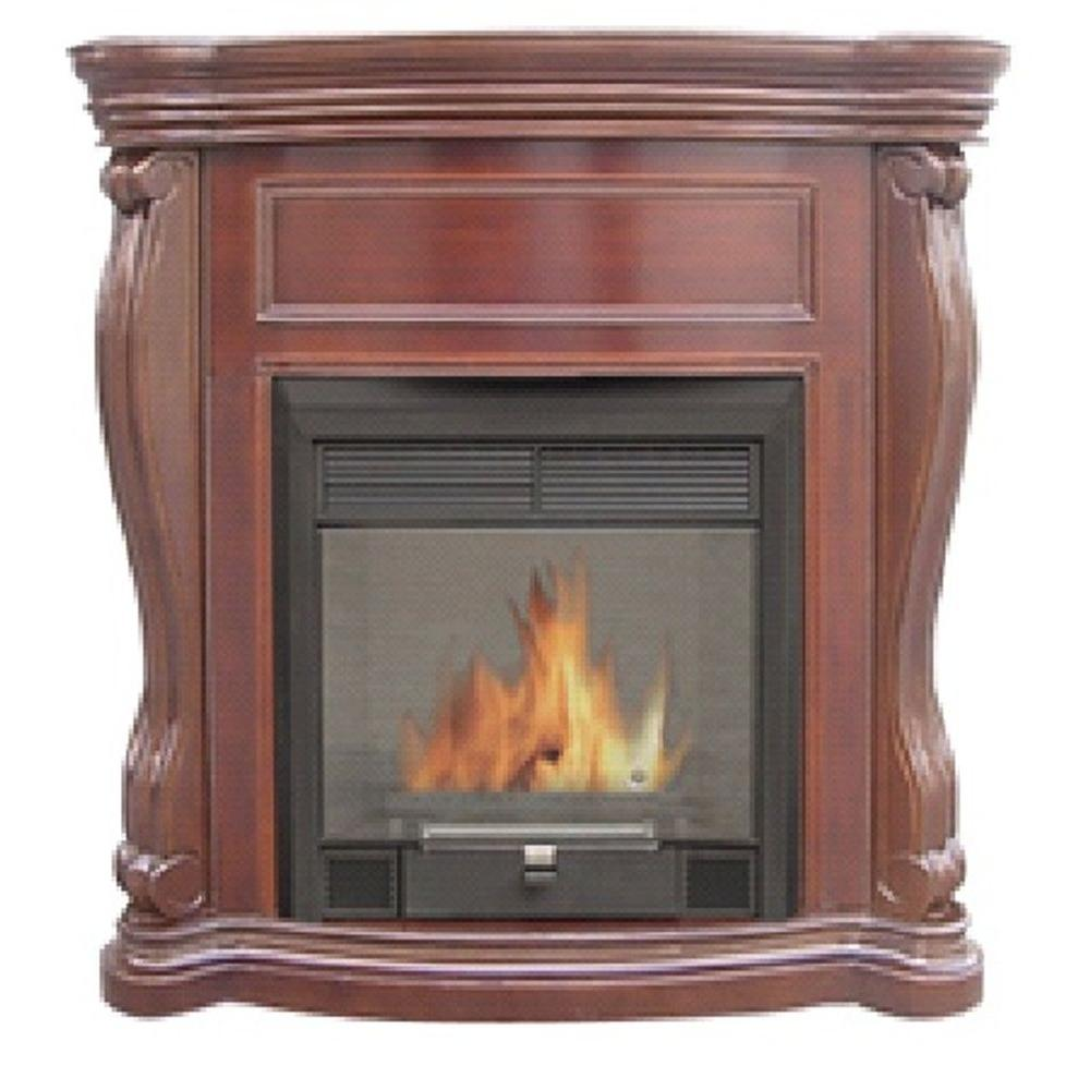 Quality Craft 47 in. Vent-Free Ethanol Fireplace in Chestnut-DISCONTINUED