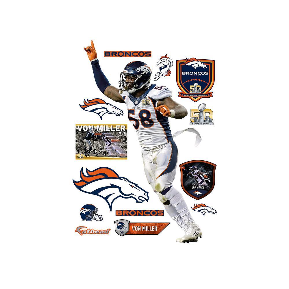 W Von Miller Super Bowl 50 MVP Wall c99f713ba