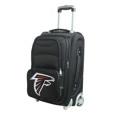 NFL Atlanta Falcons 21 in. Black Carry-On Rolling Softside Suitcase