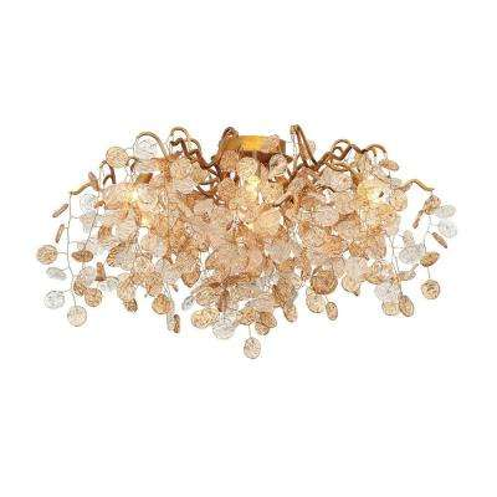Campobasso Collection 7-Light Gold Semi Flush Mount