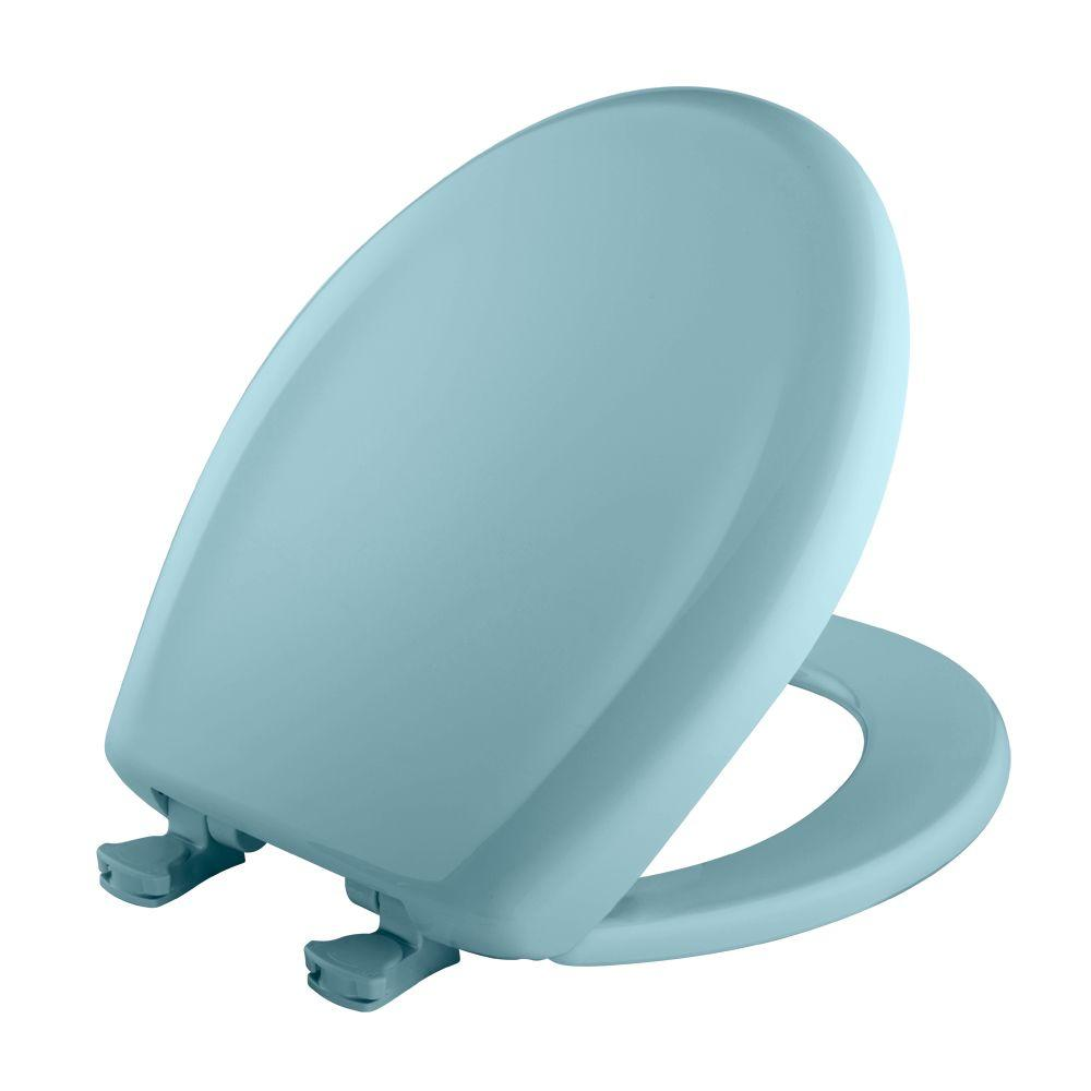 Bemis Round Closed Front Toilet Seat In Dresden Blue